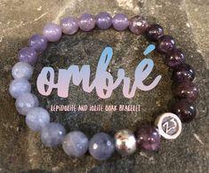 AHHHH... energy at its finest! Feel the perfect balance of Lepidolite and Iolite. This OOAK bracelet is stunning alone or paired with other healing crystals to enhance the power of the stones. Did you know that Lepidolite dissolves negativity and brings deep emotional healing while Iolite is a vision stone which allows true self expression. Iolite | Lepidolite | ombre jewelry | ombre fashion | zen jewelz | ZenJen