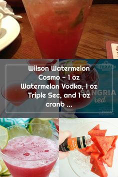 Wilson Watermelon Cosmo - 1 oz Watermelon Vodka, 1 oz Triple Sec, and 1 oz cranberry juice- shake over ice and strain into cocktail gl... Watermelon Vodka, Triple Sec, Cranberry Juice, 1 Oz, Cosmos, Shake, Cantaloupe, Cocktails, Fruit