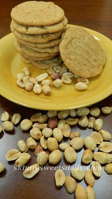 Skinny Sweets Daily: Fabulous Large Gluten Free No Flour Peanut Butter Cookies. Click for the recipe!