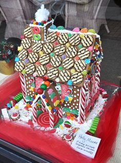 My sisters and I make a gingerbread house every Christmas, and we've begun to make much more complex designs recently. Though the houses don't last vey long either because we're terrible architects or just hungry, it's always fun to see what we come up with.