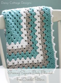 Granny Square Baby Blanket Pattern - Free Crochet Pattern From Daisy Cottage Design