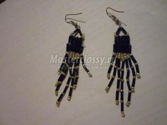 Earrings from beads with your hands.  Master class with step by step photo / Beading / Beaded Jewellery