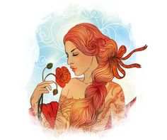 """Buy the royalty-free Stock image """"Virgo zodiac sign as a beautiful girl"""" online ✓ All image rights included ✓ High resolution picture for print, web & S. Virgo Horoscope, Virgo Zodiac, Zodiac Signs, Virgo Images, Decoupage, Virgo Girl, Horoscope Reading, Zodiac Art, Beautiful Girl Image"""