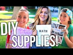DIY School Supplies! Tumblr Inspired Notebooks + Organization for Back To School - YouTube