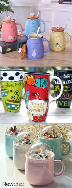 Cup & mugs. - Hobbies paining body for kids and adult Diy Craft Projects, Diy Crafts, Craft Ideas, Cat Themed Gifts, Hobbies And Interests, Coffee Tasting, Kitchen Witch, Small Paintings, Valentines Day Party