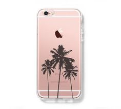 Palm Tree California iPhone 6s Clear Case iPhone 6 Cover iPhone 5S 5 5C Hard Transparent Case C025 #Iphone6Cases