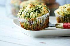 Florentine Muffins (Herzhafte Spinat-Ricotta-Muffins) Rezept Vegetarian Finger Food, Vegetarian Appetizers, Finger Food Appetizers, Appetizer Recipes, No Salt Recipes, Baby Food Recipes, Cooking Recipes, Savoury Baking, Breakfast Recipes