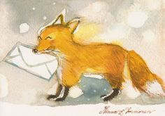 Fox With a Letter- you got mail... What does the fox say! (LOL)