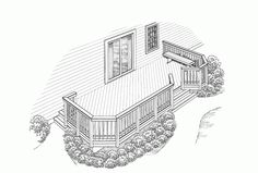Eplans Deck Plan - Casual Comfort Out-of-Doors from Eplans - House Plan Code Small Pergola, Pergola Swing, Deck With Pergola, Diy Pergola, Deck Design, Plan Design, Cool Deck, Roof Panels, Deck Plans