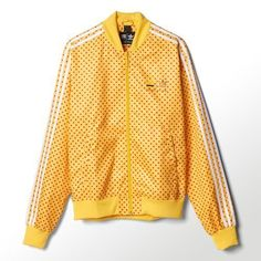 Adidas Originals Pharrell Williams Polka-Dot Track Jacket #AdidasPharrellWilliams #TrackJacket