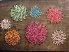 String art circles by PreciousPeace on Etsy, $25.00