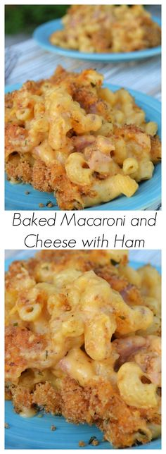 Baked Macaroni and Cheese with Ham