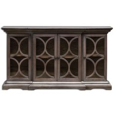 $1315 Belino Silver Wooden Four Door Chest Uttermost Chests Accent Cabinets & Chests Accent Furn