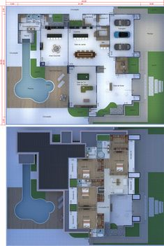 New House Plans, Dream House Plans, House Map, Village Houses, Sims House, Home Design Plans, Home Projects, 3 D, Beach House