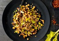 Farro Salad with Leeks, Chickpeas and Currants NYTimes.com