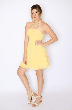 Canary Caged Dress