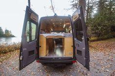 Half Dome - Freedom Vans Van Conversion Build, Van Conversion Interior, Camper Van Conversion Diy, Ambulance, Motorhome, Tiny House Big Living, Build A Camper Van, Kitchen Drawing, Van Design