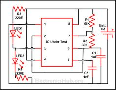 Continuity tester with melody circuit diagram circuits and diy 555 timer ic testing circuit source link httpelectronicshubhow 555 timer ic testing circuit works ccuart Choice Image