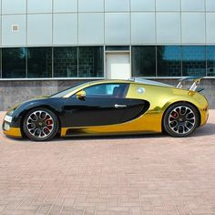 Golden Bugatti Veyron Follow Our Friend @TimothySykes for daily Luxury Travel Inspiration @TimothySykes Photo by @foilx