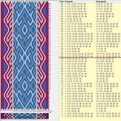 34 tarjetas, 3 colores,repite cada 24 movimientos // sed_851 diseñado en GTT༺❁
