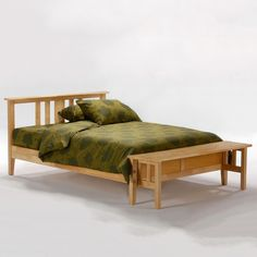 Thyme Wood Platform Bed in Natural