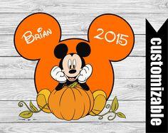 Halloween Mickey Pumpkin Iron On T-shirt Transfer by DuckyDigital