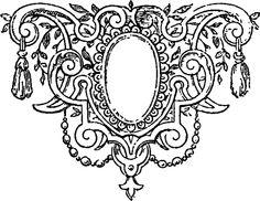 Ornate Victorian Frame/Label ~ Digital Scrapbook Freebies