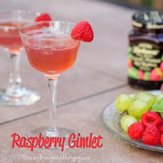 Raspberry Gimlet - Sweet, fruity, and refreshing adult beverage, perfect for any special occasion!