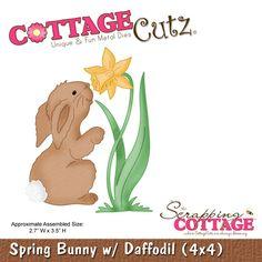 CottageCutz Spring Bunny w/ Daffodil (4x4)