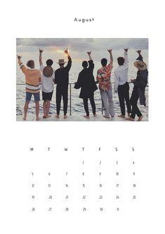 Bts Calendar, August Calendar, Print Calendar, Lock Screen Backgrounds, About Bts, Bts Wallpaper, Unique Art, Aesthetic Wallpapers, Kpop