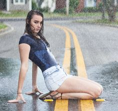 Madilyn Rain Shoot by Rainy Day Photography, Umbrella Photography, Photography Challenge, Photography Women, Rain Pictures, I Love Rain, Foto Casual, Walking In The Rain, Portrait