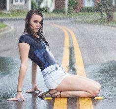Madilyn Rain Shoot by Rainy Day Photography, Umbrella Photography, Photography Challenge, Photography Women, Rain Pictures, I Love Rain, Foto Casual, Walking In The Rain, Portrait