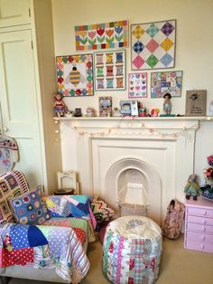 I was thinking today about how quickly my wall of mini quilts has ...