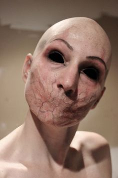 Creepy FX makeup by Rhonda Causton(Reel Twisted FX) / Paired with all black