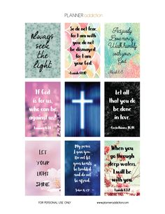 """Free Printable Planner Stickers - Bible Scripture - Large Happy Planner 8.5""""x11"""""""