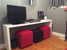 Malm Occasional Table Bought Off Of Kijiji Ikea No Longer Makes These So Was Hy To Find One Just Painted It White For Our Guest Room 2016