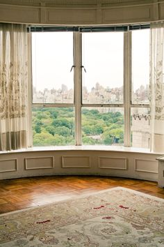 windows looking out onto Central Park