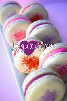 """""""Colors de Valentines"""" vanilla bubble gum macarons, original design and flavor by Le Pop Shop"""