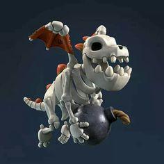 Dragon Clash, Coc Clash Of Clans, Dragon Skeleton, Attack On Titan Art, Baby Dragon, 3d Max, Dark Ages, Creature Design, Pokemon Cards