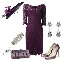 """""""Summer Wedding -The Groom's mother"""" by dgia on Polyvore"""
