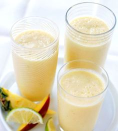 Click here for 20 refreshing smoothy drinks ~ Tropical Fruit Smoothies
