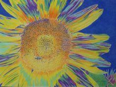 """Sunwondrous"" 30 x 40"" pastel pencil on illustration board, 2013. By Cris Fulton, Bowman, North Dakota."