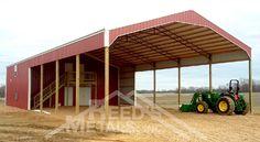 Roof-only, partially enclosed, or fully enclosed. The choice is yours with a custom pole barn from Reed's Metals! Pole Barn Kits, Water Walls, Metal Buildings, Farm Yard, Old Barns, Pavilion, Farmer, Metals, Outdoor Decor