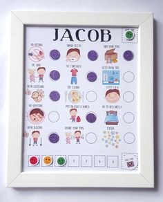 Here we have a fully magnetized, fully personalised, fully customisable reward chart for the little angel in your life! This chart is the perfect visual aid for those pre-school children, toddlers or children with SEN, ASD, ADHD, GDD or need that visual aid as oppose to wording on their charts. How does this work, Every day your child has 15 jobs, behaviours or routines they need to adhere to. If they complete their task for the day they would get their magnet to fill the circle. You would…