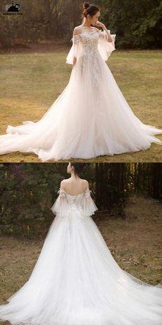 Ballroom Wedding Dresses, Best Wedding Dresses, Cheap Wedding Dress, Bridal Dresses, Wedding Gowns, Beaded Dresses, Trendy Wedding, Wedding Dress Tulle, Light Wedding