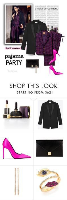 """If being in my pajamas at 7pm is wrong, I don't want to be right"" by blonde-bedu ❤ liked on Polyvore featuring Tory Burch, Oris, Tom Ford, Yves Saint Laurent, Victoria Beckham and Delfina Delettrez"