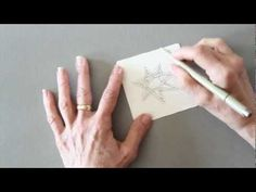 """Rick Roberts and Maria Thomas, founders of Zentangle®, show how to tangle """"auraknot."""""""