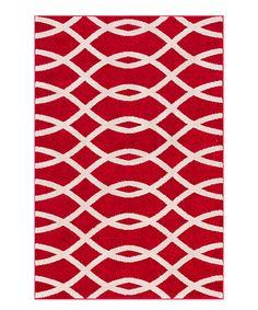 Loving this Mystic Red Moderm Trellis Area Rug on #zulily! #zulilyfinds
