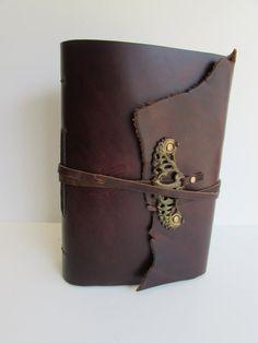 Handmade Leather Bound Journal Photo Album by MgDesignSecondWind