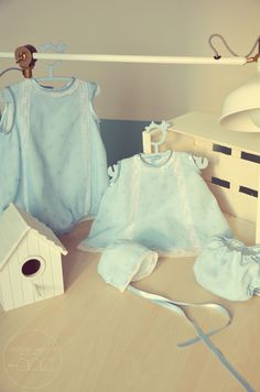 "Colección Ceremonia ""Azul topos"" (0-3 meses) - Querida Galleta"